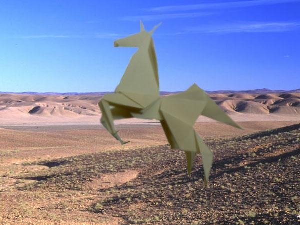 origami cheval explication
